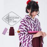 卒業式袴セット「紫×白 矢羽」