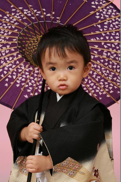 七五三3歳男の子袴黒色